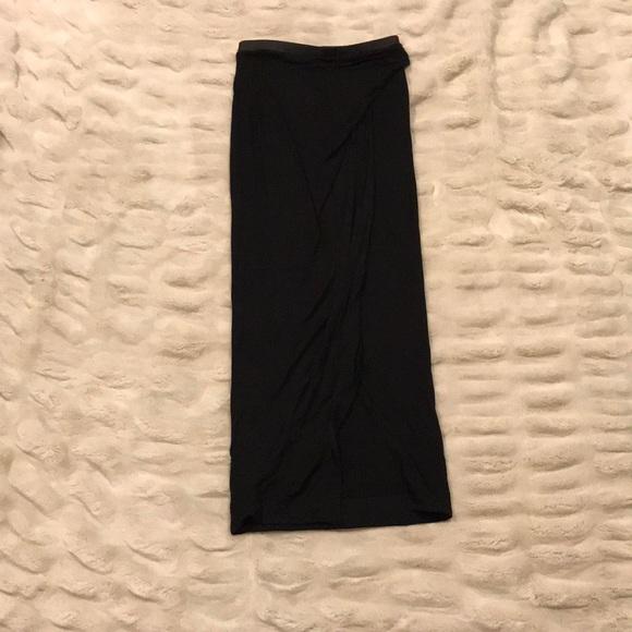 Black Banana Republic crossover maxi skirt XS